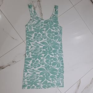 MINT & WHITE BODYCON DRESS-(Fits like a size small